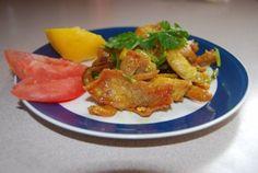 Crunchy chicken delight (slightly spicy)
