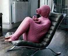 Full Body Sweater. I could use one of these right now. Snuggle with a cup of tea!