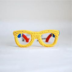 Ok, now I've seen everything. Crocheted glasses - would you wear them?