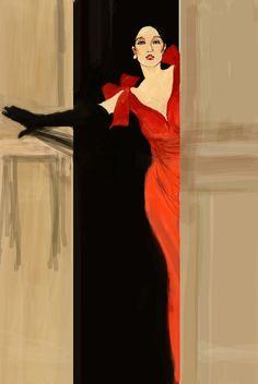 Rene Gruau #illustration #fashion #style