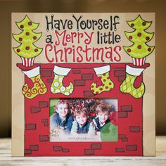 Glory Haus Merry Little Christmas Fireplace Frame