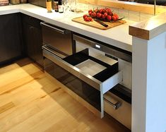 appliances, kitchen idea, oven, hous, new kitchens, small kitchen, kitchen drawers, stainless steel, microwav drawer