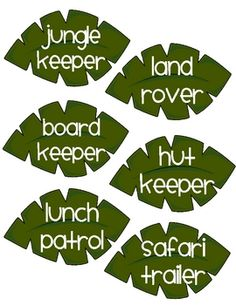 Jungle theme classroom jobs for a pocket chart image 3