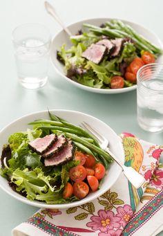 Niçoise Salad with Seared Black Sesame Tuna