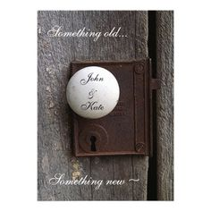 Here's a clever idea for a wedding invitation! rustic wedding. wedding invites. vintage wedding.