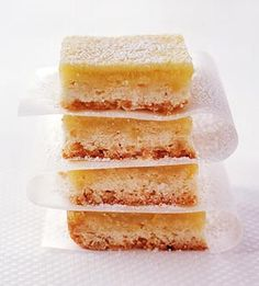 Light Lemon Bars - only 100 calories each bar