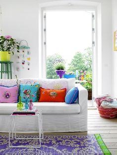 . living room colors, happy colors, bright colors
