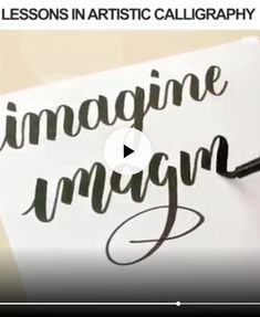 Hand lettering calli