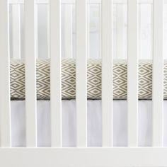 Modern, neutral crib bedding - Sand Gray Diamond Crib Sheet #PNshop