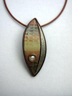 subtl metal, pendant, mixed metals