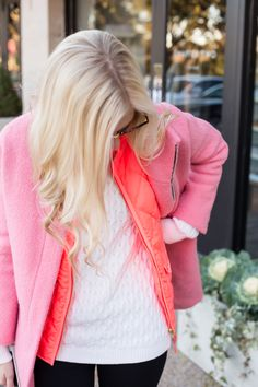 doubl pink, layer pink, pink coat, coats
