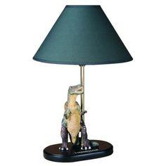 Tyrannosaurus Dinosaur Lamp - Brown/ Green.