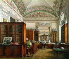 Interiors of the Winter Palace, Library, by Edward Petrovich Gau    (via alexandresoaressilva)