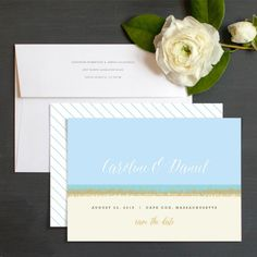 Coastal Love Save The Date Cards by Kristie Kern | Elli