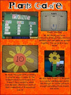 Plant tree map (free student map) and flowers with combinations to make 10