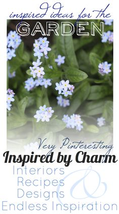 An amazing collection of 'Inspired Ideas for the Garden' from Inspired by Charm
