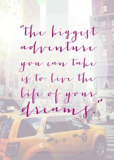The Biggest Adventure Laura Winslow Photography Free Printable 5x7 LWP Oprah Winfrey Quote Freebie :: Memorable Words Monday :: Laura Winslo...