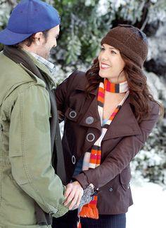 Luke & Lorelei when he built her an ice rink