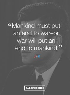 50 years after JFK's assassination, his words still hold true.