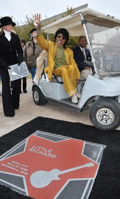 Little Richard at the Music City Walk of Fame Induction in Nashville