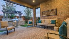 Relax on a cool evening in #Irving and spark up conversation with friends and family on this #patio by Darling Homes at Bridges of Las Colinas.