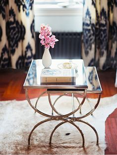 gilt & mirrored stacking tables sfgirlbybay 5p