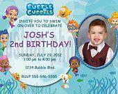 Bubble Guppies Invitation Personalized Birthday Digital File. $6.00, via Etsy.