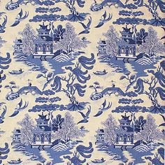 Lee Jofa - Willow Pattern - Blue on White