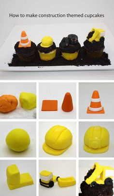 How to Make Construction Party Cupcakes - Spaceships and Laser Beams