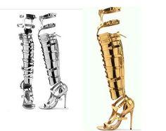 Women Roman Stilettos Heel Over THE Knee High Boot Sandal Shoes Gladiator Sandal | eBay