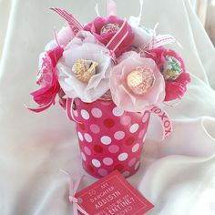 Personalized Party Favor Lollipop cute idea for valentines day or for party center pieces