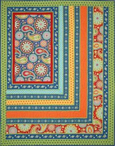 Gypsy, by Michael Miller Fabrics. Quilt of Valor idea: Fussy cut upper left block (American Eagle or Flag), then red, white, and blue strips.