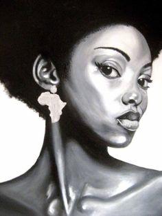 african americans, chanel handbags, chanel bags, black cultur, afro art, black art, designer bags, natural hair art, african woman painting