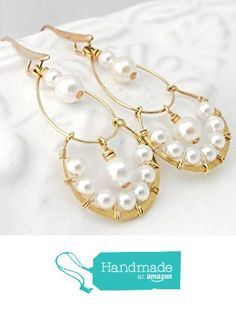 Gold pearl chandelier earring designs for girls