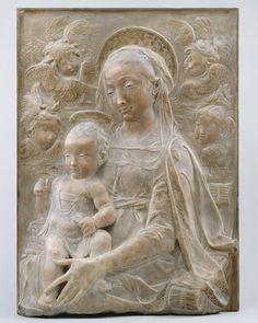 [][][] Madonna and Child with Angels, Relief, 15th century (ca. 1455–60)  Antonio Rossellino (Italian, Florentine, 1427–1479)