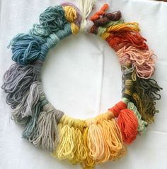 Love Yarn? Show it with a wreath made from your stash!