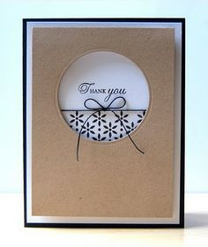 Love this kraft, white and black card. She also gives a fun tip on how she 'CASEs' cards.