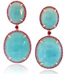 amazonite and rubies by Phillips Frankel