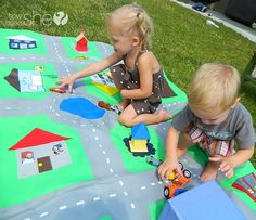 The cutest kids Road Map EVER. Zoo, Grandma's house and more. Melt my heart. Made With Love Road Rug | How Does She...