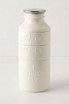 Milk Bottle Measuring Cups. Anthropologie.