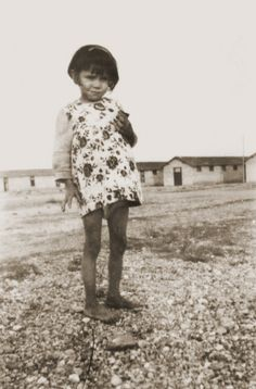 """Date:1941 - 1942  Locale:Rivesaltes, [Pyrenees-Orientales] France  Credit:United States Holocaust Memorial Museum, courtesy of Friedel Bohny-Reiter  Copyright:United States Holocaust Memorial Museum    Portrait of a Gypsy girl in the Rivesaltes detention camp.    The photo's original caption reads """"Annette, the shy little Gypsy girl who never spoke""""."""
