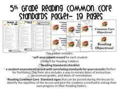 5th Grade Reading Common Core Pack! Learning-4-Keeps Shop - | Teachers Notebook