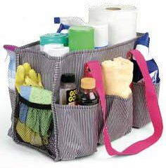 Organize the cleaning product shelf! Also, easy to carry around when you are cleaning. Great to have the cleaning products you need within reach