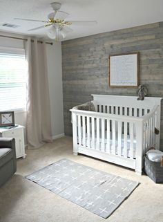 rustic boy nursery.
