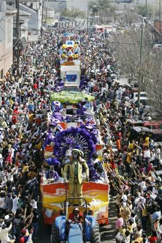 """... I think that I may say that an American has not seen the United States until he has seen Mardi Gras in New Orleans."" - Mark Twain"