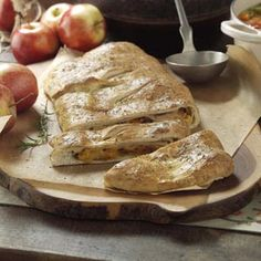 Bistro Turkey Calzone Recipe from Taste of Home -- Turkey, cheddar and bacon harmonize well with the apple in this family-friendly fare. —Donna Marie Ryan, Topsfield, Massachusetts  #turkey  #leftovers