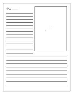 Daily Diary Entry Template – Printable Editable Blank Calendar 2017