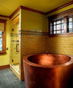 Copper Japanese Deep Soaking Bath