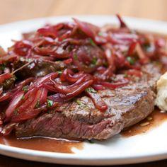 Steak mit Portweinsoße mälzer