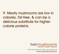 """It's Day 9 of National Mushroom Month! Are you cooking with """"meaty"""" mushrooms today? #WFD2012 #IAmVegetable"""